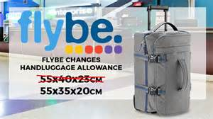 flybe changes to luggage allowance cabin max luggage