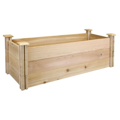Greenes Fence Raised Beds by Greenes Fence 16 In X 48 In X 16 5 In Premium Cedar