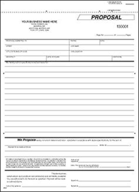 printable blank bid proposal forms forms sle