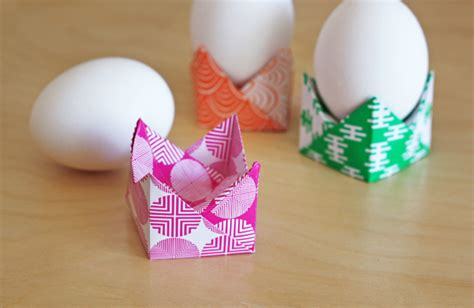 Origami Easter Egg - easy origami egg holders how about orange
