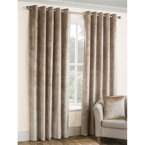 velvet eyelet curtains belfield furnishings opulence chagne crushed velvet