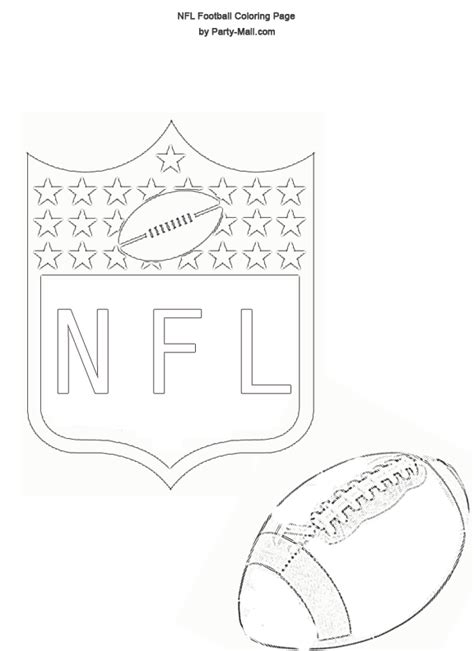 Free Coloring Pages Of Nfl Team Logos Nfl Logo Coloring Pages