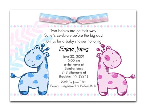 printable baby shower invitations twins theruntime com