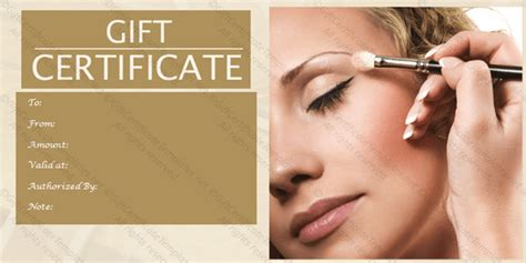 make up gift card template spa gift certificate templates