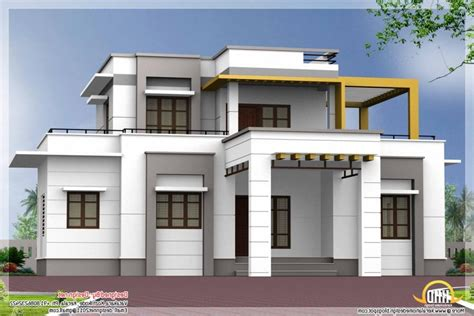 kerala home design flat roof elevation flat roof house elevation photos in kerala style