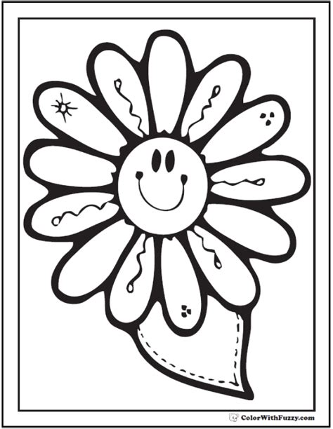 happy flower coloring page spring flowers coloring page 28 customizable printables