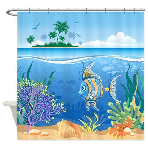 by the sea shower curtain under the sea shower curtain by bestshowercurtains