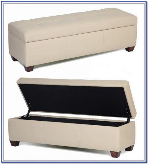 bench for end of bed with storage the must have bedroom with cream vinyl rectangular end of