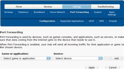 forwarding configuration how do i set up vpn using a bt home