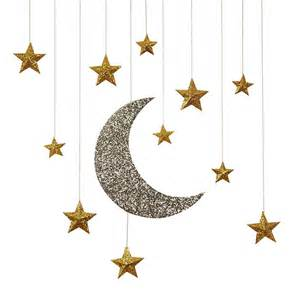 hanging decorations glitter moon hanging decorations