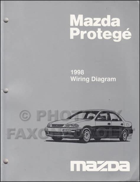 1998 mazda protege repair shop manual original 1998 mazda protege wiring diagram manual original