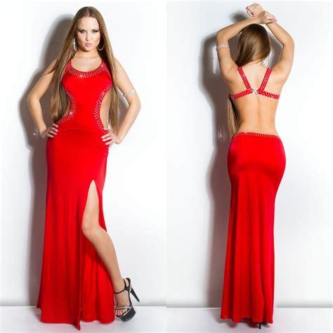 robe longue dos nu lena couleur