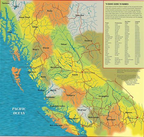 map of columbia maps canada bc