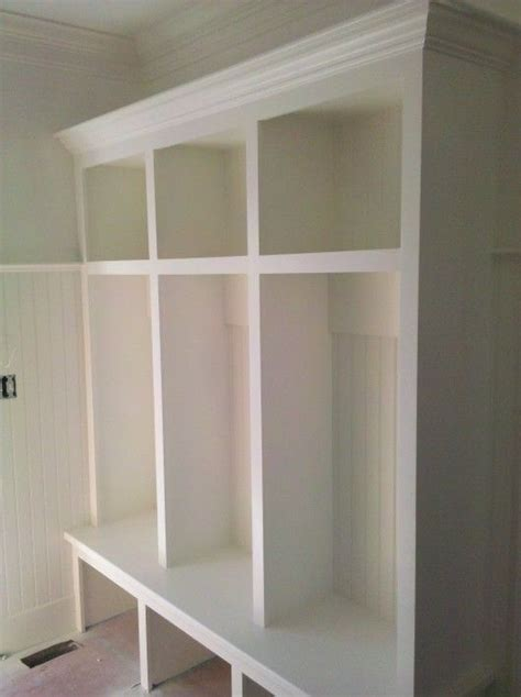 how to build a mudroom bench with cubbies 25 best ideas about garage lockers on pinterest garage