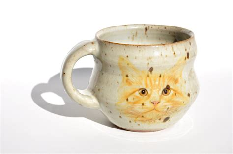 unique coffee mug wheel thrown cat mug unique coffee mug handmade ceramic