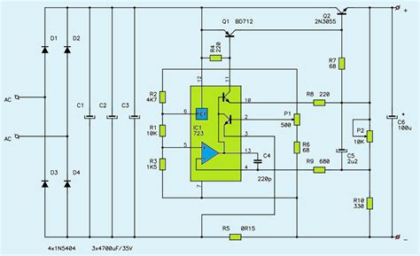 variable dc power supply circuit diagram power