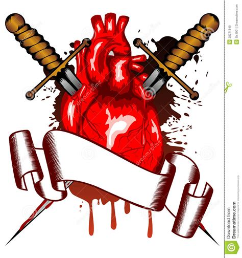 Armchair Sailor Heart And Two Daggers Royalty Free Stock Images Image