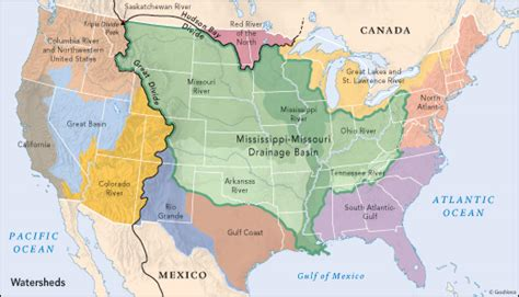 great basin usa map a gorgeous map showing every river basin in the us digg
