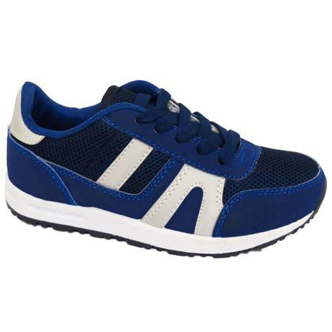 school sports shoes boys blue sports school lace up