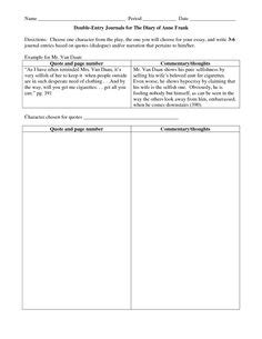 printable dialectical journal a digital version of a double entry journal you can use