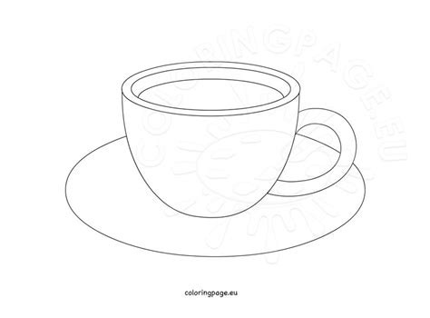 Coffee Cup Template coffee cup design template coloring page