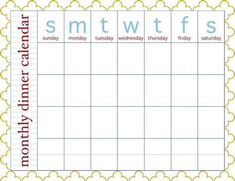 printable weekly menu planner with nice bright colors also could