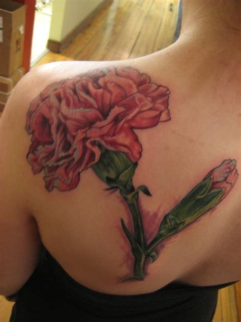 pink carnation tattoo design i really wanna get a of carnations snowdrop