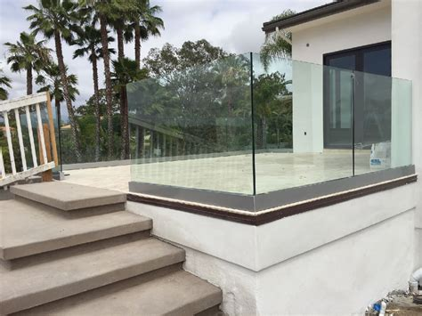 tempered glass railing rancho santa fe patriot glass and mirror san diego ca