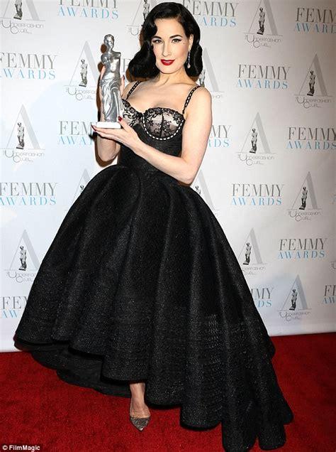 Femmy Dress dita teese attends the 2016 femmy awards nyc