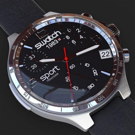 Swatch Sfc106 Original 1 3d swatch model