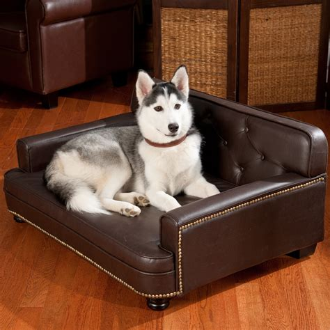 dog bed leather couch faux leather dog bed ideas spiffy pet products