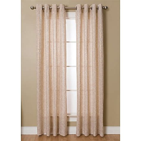 Gold Grommet Curtains Buy Kailey 95 Inch Grommet Top Window Curtain Panel In Gold From Bed Bath Beyond