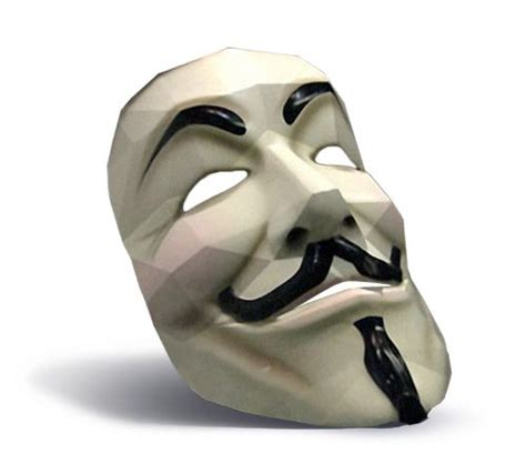 Origami Fawkes Mask - fawkes mask from papercraft handmade artcrafts
