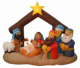 airblown inflatable nativity decorations