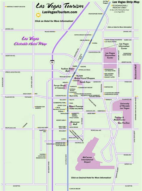 map of the las vegas hotel on the las vegas map michigan map