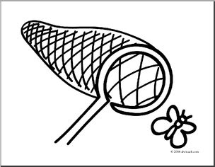 coloring page butterfly net clip art basic words net coloring page preview 1 nept9l