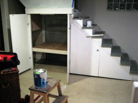 Portable Stairs With Handrail Under Stairs Cupboard Storage Ideas Basement Organization