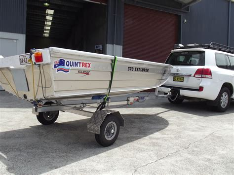 boat trailer folding boat trailer 42kgs travels with caravanners