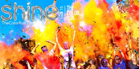 5k color run 2015 the color run shine tour giveaway