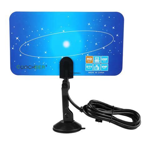 digital indoor tv antenna hdtv box ready hd vhf uhf flat design high gain sls ebay