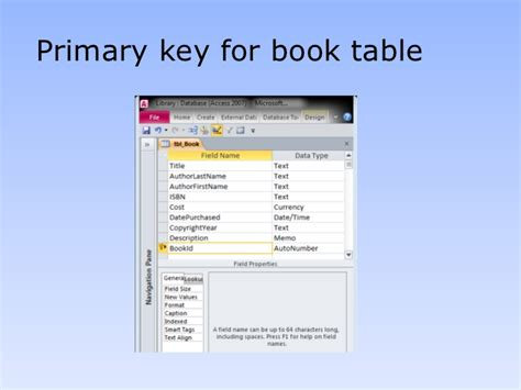 setting up library database in ms access youtube