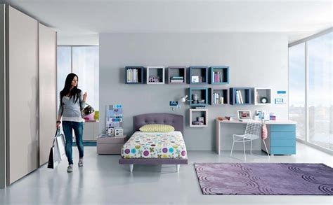 simple teenage bedroom ideas cool teenage girl bedroom designs with wall shelves and