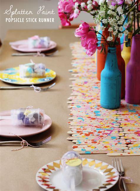 diy decorations sticks diy splatter paint popsicle stick runner at home in