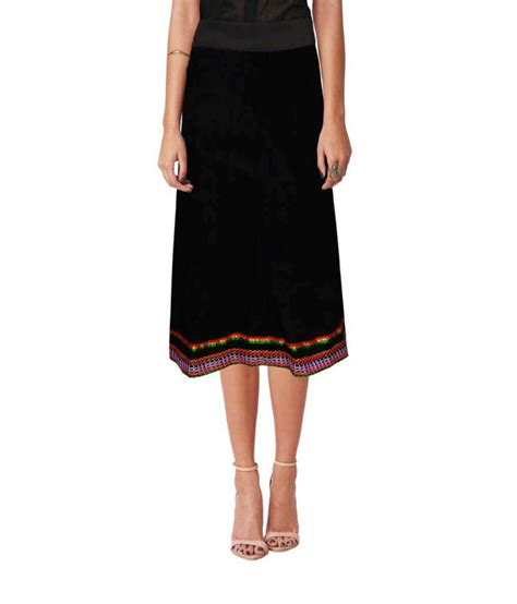 buy ethnic style knee length cotton solid crinkle skirt