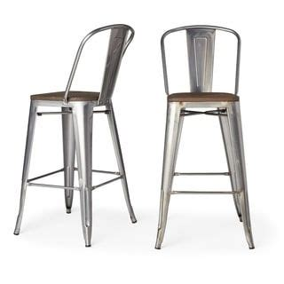 Tabouret Bistro Wood Seat Gunmetal Finish Bar Stools by 25 Best Ideas About Tiki Bar Stools On Patio