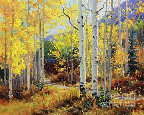 aspen cabin aspen cabin canvas by gary magical autumn all year