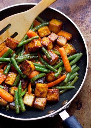 vegetables used in stir fry sesame tofu and veggie stir fry recipe