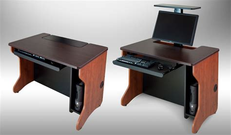 used computer desk monitor lift computer desks flipitlift offered by smartdesks