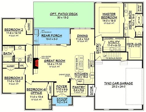 house plans with bonus room 17 best images about floor plans on pinterest