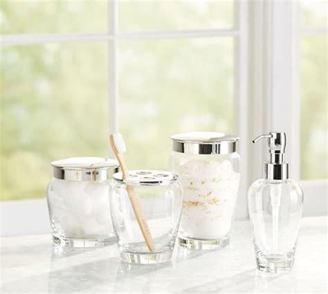 clear glass bathroom accessories ultimate bath accessories clear glass pottery barn